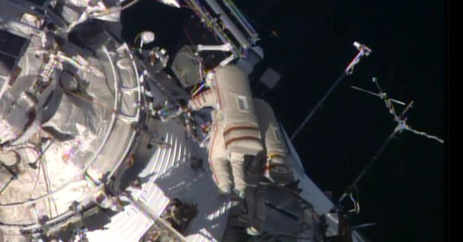 3rd spacewalk in 3 weeks at space station