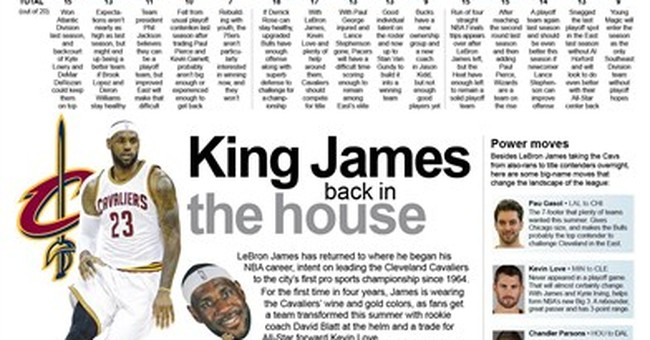 All hail King James: LeBron rules NBA