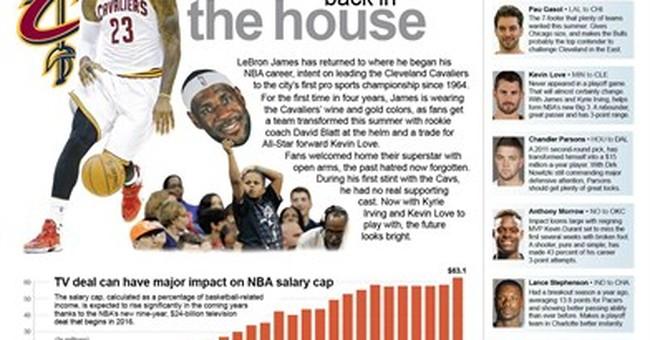 All hail King James: LeBron rules NBA