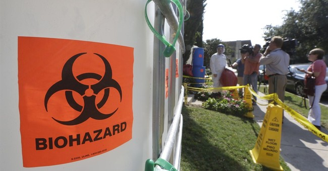 Dallas man's Halloween decor inspired by Ebola