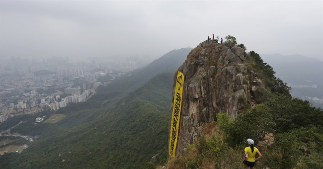 Image of Asia: Climbing for democracy in Hong Kong