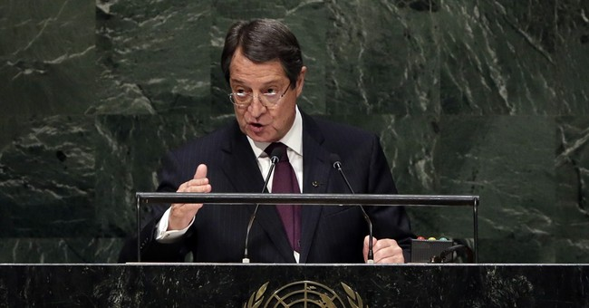 Cyprus president hospitalized in Brussels