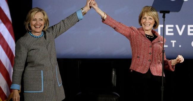 Hillary Clinton rallies women in New England
