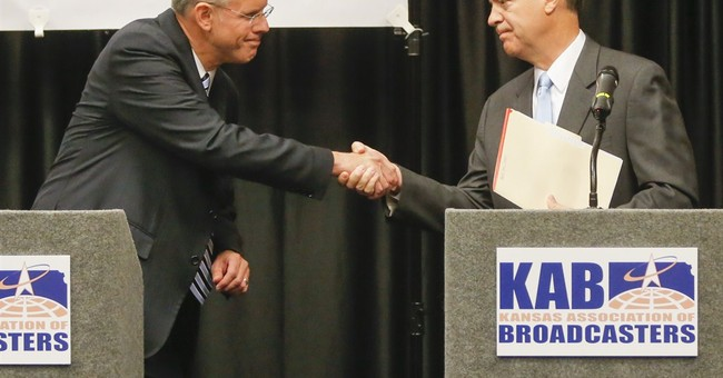 Democrat loses ground in Kansas governor's race