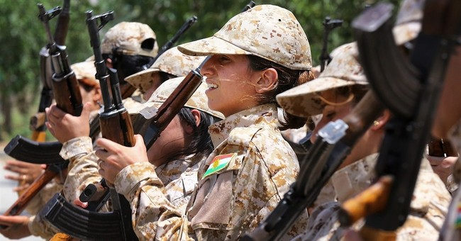 Women on front lines in Syria, Iraq against IS