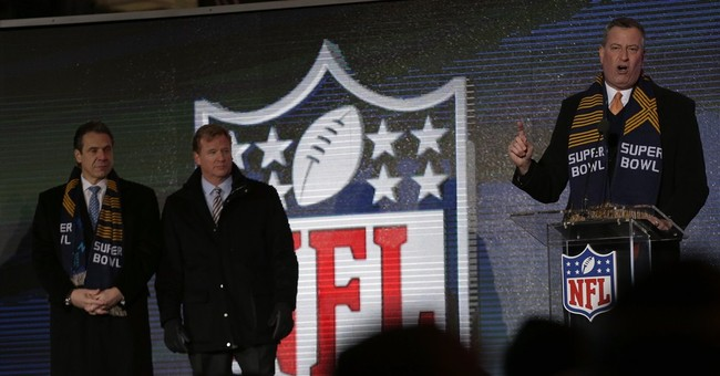 NYC mayor won't attend high-priced Super Bowl