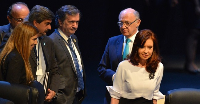 Argentina president treated for hip pain
