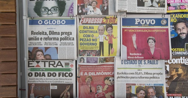 Brazil stock market, currency down after election
