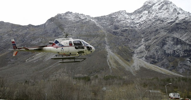 Norway TV on tenterhooks, impending rockslide