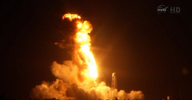 Supply rocket headed to space station explodes