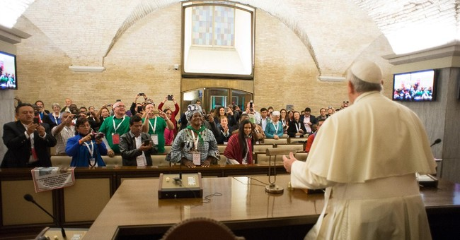 Pope delivers mini-encyclical on poor, environment