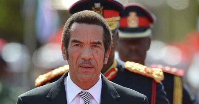 21-gun salute marks Botswana president's 2nd term