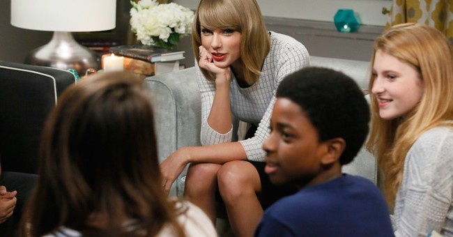 Taylor Swift talks books and music with kids