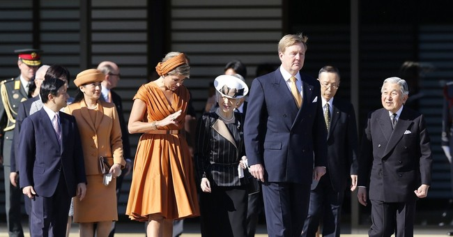 Japan's recovering crown princess attends banquet