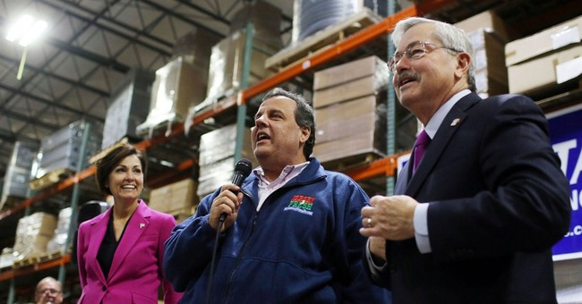 Christie hopes for 'big, fat blowout' for Branstad