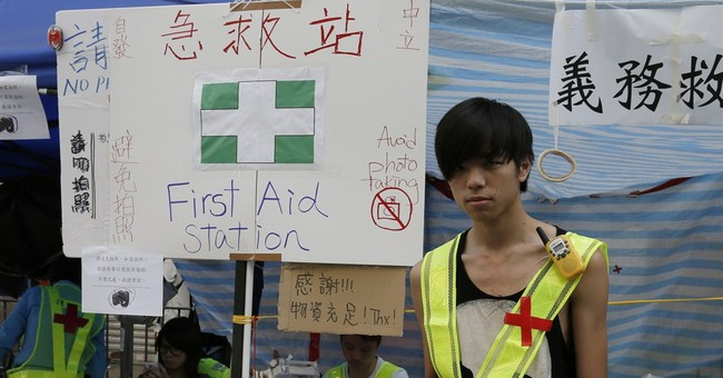 Hong Kong protesters: Images of determination