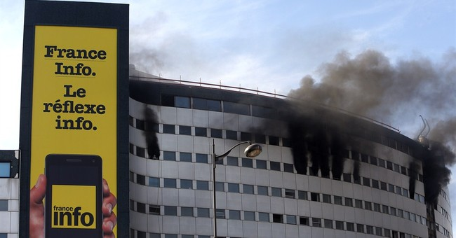 Fire causes evacuation of French state radio