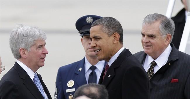 Obama urges Snyder's defeat despite common ground