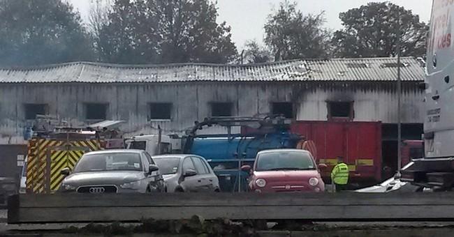 2 bodies found after UK fireworks warehouse blaze