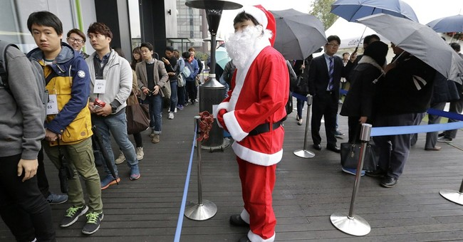 Image of Asia: Watching the iPhone line in Seoul