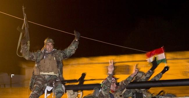 Iraqi peshmerga fighters prepare for Syria battle