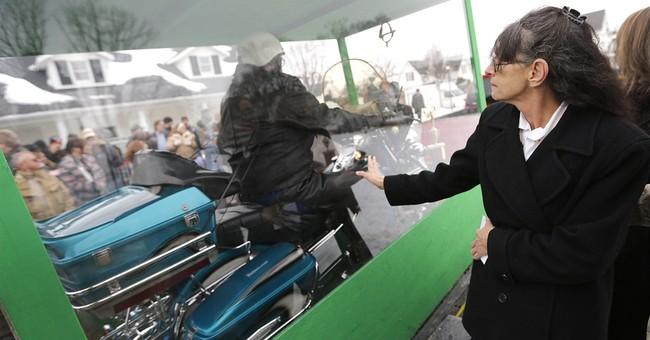 Ohio man buried astride beloved Harley motorcycle