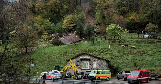 Woman, child killed in Swiss landslide