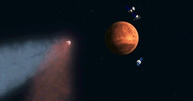 NASA: Comet bombarded Mars sky with meteor shower