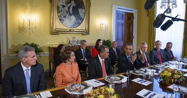 Obama and GOP lawmakers break bread but not ice