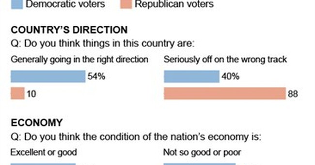 Voters divided on the issues, just like pols