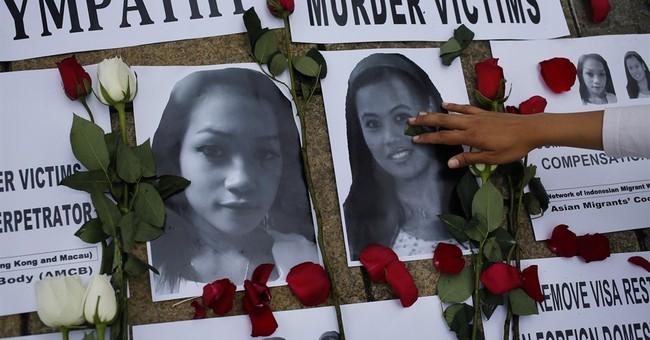 Indonesians pray for Hong Kong stabbing victims