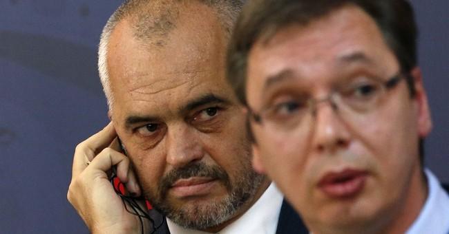 No detente for leaders of Serbia, Albania