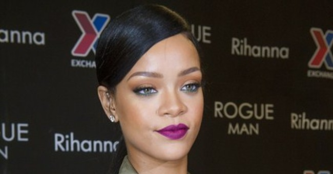 Rihanna teases new music at Virginia military base
