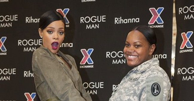 Rihanna teases new music at Virginia military base