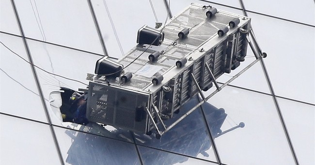 Window washers 'doing well' after scaffold mishap