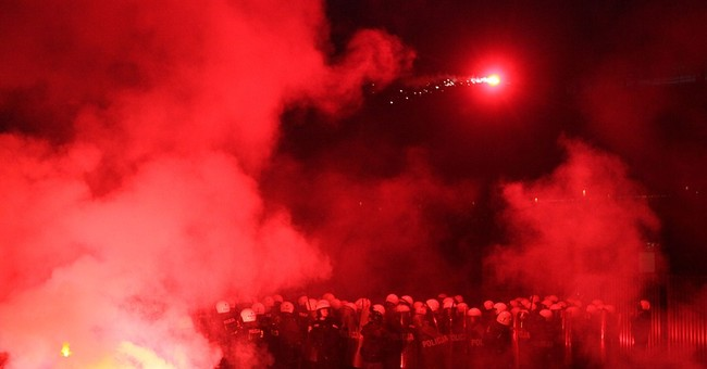 Damage by hooligans in Warsaw exceeds $25,000