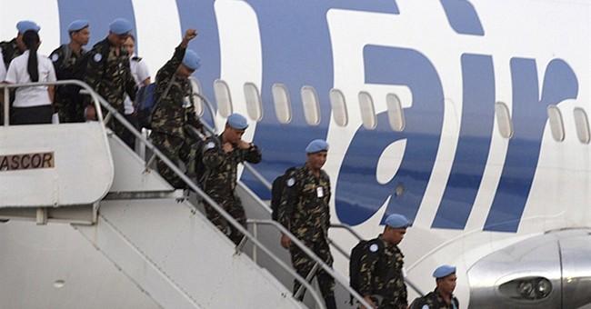 Island quarantine for Filipino troops from Liberia