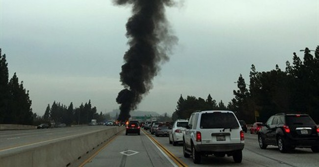 1 dies in fiery multivehicle crash on LA freeway