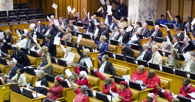 South Africa police oust lawmaker from parliament