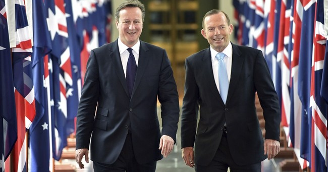 British leader gets laughs at Aussie's expense
