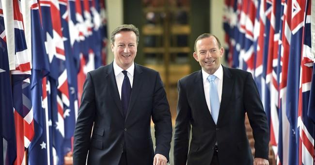 British leader gets laughs at Aussie's expense