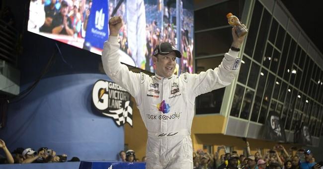 Elliott celebrates Nationwide title at Homestead