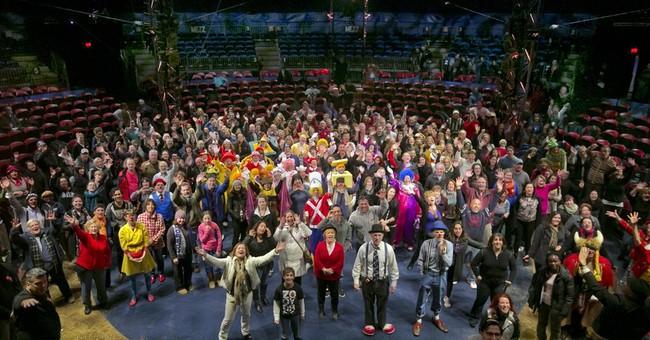 AP PHOTOS: A look at 'Clown U.' for Macy's parade