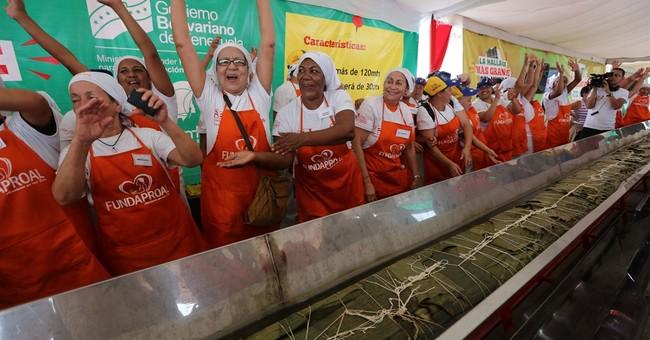 Venezuela cooks world's largest Christmas hallaca