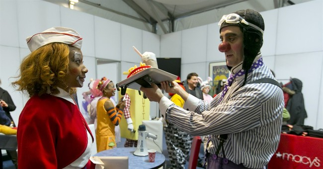 Amateurs learning how to clown around for parade