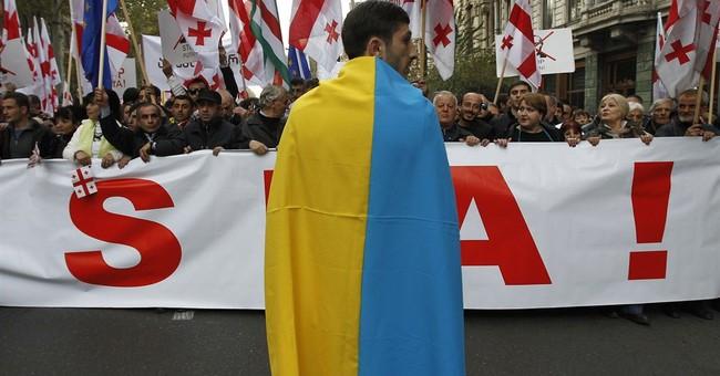Georgians protest Russia-Abkhazia province deal