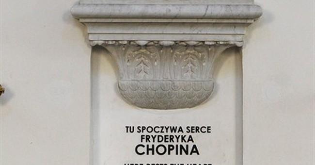 Chopin's heart exhumed in secret, like a relic