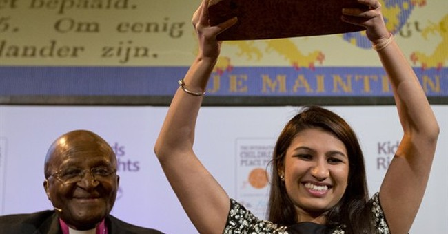 American wins prestigious children's peace prize