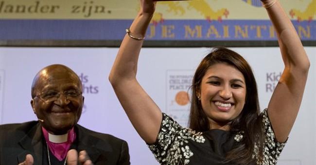 American wins prestigious children's peace prize