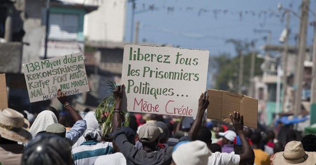 Anti-government protest in Haiti turns violent